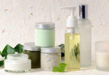 Kosmetik Proben mit Efeu